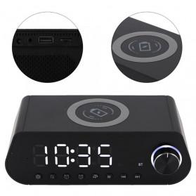 LEADSTAR Jam Meja LED Digital Clock Bluetooth Speaker - MX23 - Black - 2