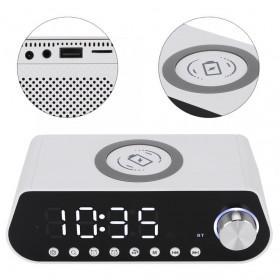 LEADSTAR Jam Meja LED Digital Clock Bluetooth Speaker - MX23 - Black - 3