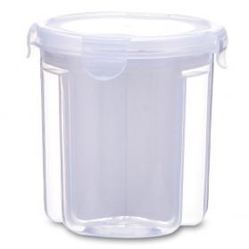 FUNIQUE Toples Wadah Penyimpanan Kacang Sereal Oats Storage Jar 3 Slot Small Size - FSC2 - Transparent - 2