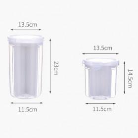 FUNIQUE Toples Wadah Penyimpanan Kacang Sereal Oats Storage Jar 3 Slot Small Size - FSC2 - Transparent - 5