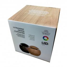 Taffware Air Humidifier Ultrasonic Aromatherapy Oil Diffuser Wood Design 130ml - KJR11 - Light Chocolate - 4