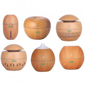 Taffware Air Humidifier Ultrasonic Aromatherapy Oil Diffuser Wood Design 130ml - KJR11 - Light Chocolate - 3