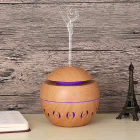 XProject Ultrasonic Humidifier Aroma Essential Oil Diffuser Wood Design 130ml - KJR13 - Light Chocolate