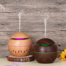 Taffware Air Humidifier Ultrasonic Aromatherapy Oil Diffuser Wood Design 130ml - KJR11 - Light Chocolate - 2