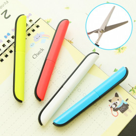 Deli Gunting Safety Scissors Portable Mini Stationery Office Stainless Steel - 0600 - Mix Color - 4