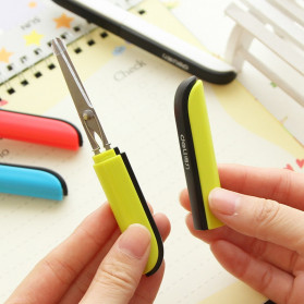 Deli Gunting Safety Scissors Portable Mini Stationery Office Stainless Steel - 0600 - Mix Color - 5