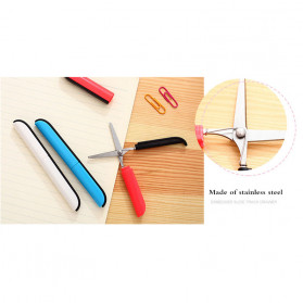 Deli Gunting Safety Scissors Portable Mini Stationery Office Stainless Steel - 0600 - Mix Color - 8