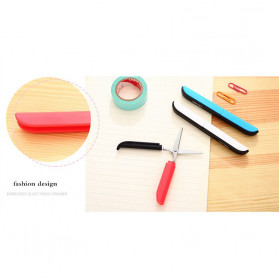Deli Gunting Safety Scissors Portable Mini Stationery Office Stainless Steel - 0600 - Mix Color - 9