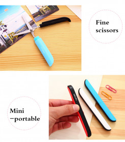 Deli Gunting Safety Scissors Portable Mini Stationery Office Stainless Steel - 0600 - Mix Color - 10