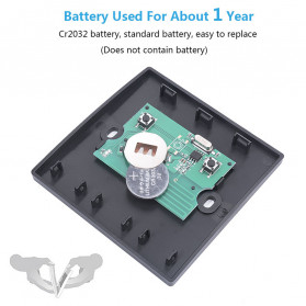 SMATRUL Saklar Lampu Wireless Switch RF 433Mhz 2 Button with 2 PCS Receiver - WHK01 - Black - 12