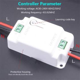 SMATRUL Saklar Lampu Wireless Switch RF 433Mhz 2 Button with 2 PCS Receiver - WHK01 - Black - 4