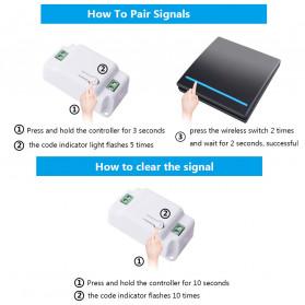 SMATRUL Saklar Lampu Wireless Switch RF 433Mhz 2 Button with 2 PCS Receiver - WHK01 - Black - 9