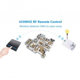 SMATRUL Saklar Lampu Wireless Switch RF 433Mhz 3 Button with 3 PCS Receiver - WHK01 - Black - 10
