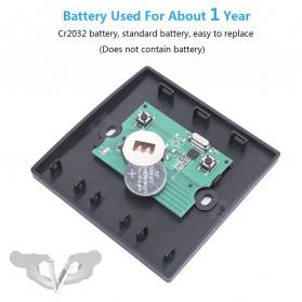 SMATRUL Saklar Lampu Wireless Switch RF 433Mhz 3 Button with 3 PCS Receiver - WHK01 - Black - 12