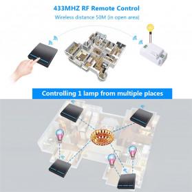 SMATRUL Saklar Lampu Wireless Switch RF 433Mhz 3 Button with 3 PCS Receiver - WHK01 - Black - 5