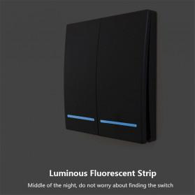 SMATRUL Saklar Lampu Wireless Switch RF 433Mhz 3 Button with 3 PCS Receiver - WHK01 - Black - 7