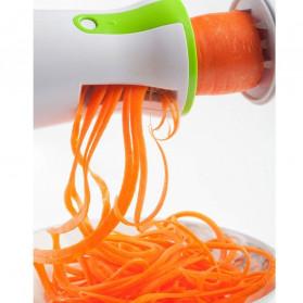 BEEMSK Parutan Serbaguna Handheld Portable Spiralizer Vegetable Slicer - A042 - Light Green - 3