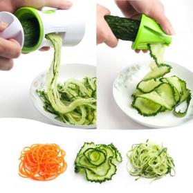 BEEMSK Parutan Serbaguna Handheld Portable Spiralizer Vegetable Slicer - A042 - Light Green - 4