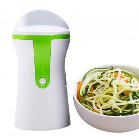 BEEMSK Parutan Serbaguna Handheld Portable Spiralizer Vegetable Slicer - A042 - Light Green - 5