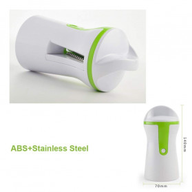 BEEMSK Parutan Serbaguna Handheld Portable Spiralizer Vegetable Slicer - A042 - Light Green - 7