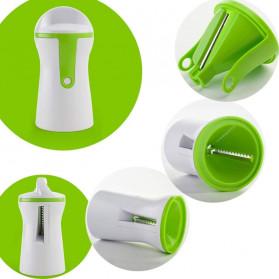 BEEMSK Parutan Serbaguna Handheld Portable Spiralizer Vegetable Slicer - A042 - Light Green - 8