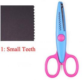 Tegoni Gunting Scissors Student Stationery Office ZigZag Teeth - 1709 - Purple