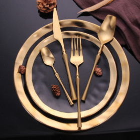 Lingeafey Garpu Western Gold Tableware Cutlery Fork - C50 - Golden - 5