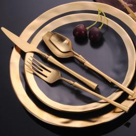 Lingeafey Pisau Western Gold Tableware Cutlery Knife - C50 - Golden - 3