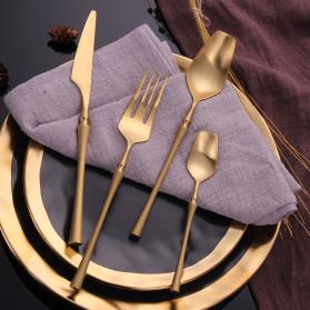 Lingeafey Pisau Western Gold Tableware Cutlery Knife - C50 - Golden - 6