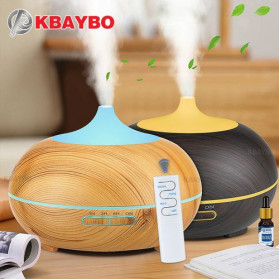 KBAYBO Air Humidifier Aromatherapy Diffuser 7 Color 300ml with Remote Control - K-H264 - Yellowish Brown
