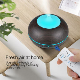 KBAYBO Air Humidifier Aromatherapy Oil Diffuser 7 Color 300ml with Remote Control - K-H264 - Yellowish Brown - 5