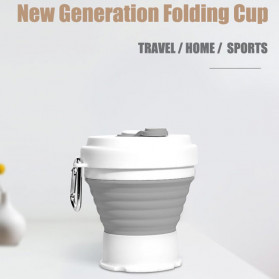 ACEBON Gelas Cangkir Lipat Silikon Foldable Travel Mug 350ml - GY800 - Gray - 4