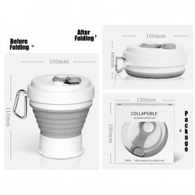 ACEBON Gelas Cangkir Lipat Silikon Foldable Travel Mug 350ml - GY800 - Gray - 5