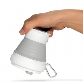 ACEBON Gelas Cangkir Lipat Silikon Foldable Travel Mug 350ml - GY800 - Gray - 7