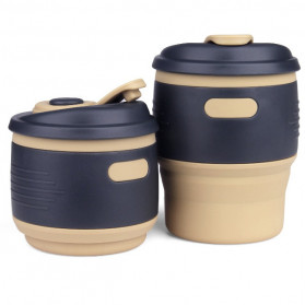 Gelas & Mug - ACEBON Gelas Cangkir Lipat Silikon Foldable Travel Mug 350ml - GY530 - Yellow