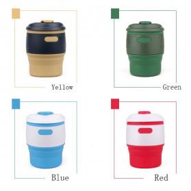 ACEBON Gelas Cangkir Lipat Silikon Foldable Travel Mug 350ml - GY530 - Yellow - 2
