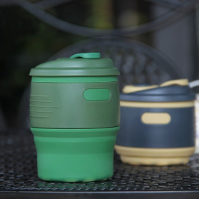 ACEBON Gelas Cangkir Lipat Silikon Foldable Travel Mug 350ml - GY530 - Yellow - 3