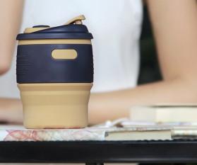 ACEBON Gelas Cangkir Lipat Silikon Foldable Travel Mug 350ml - GY530 - Yellow - 4