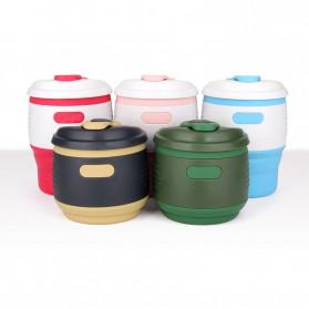 ACEBON Gelas Cangkir Lipat Silikon Foldable Travel Mug 350ml - GY530 - Yellow - 6