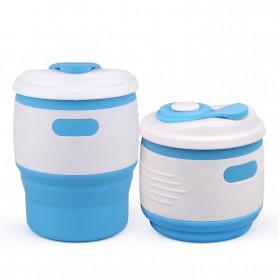 ACEBON Gelas Cangkir Lipat Silikon Foldable Travel Mug 350ml - GY530 - Yellow - 7