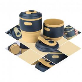 ACEBON Gelas Cangkir Lipat Silikon Foldable Travel Mug 350ml - GY530 - Yellow - 9