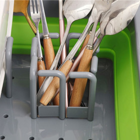 AsyPets Rak Pengering Dapur Piring Gelas Foldable Collapsible Drainer - JY749 - Green - 4