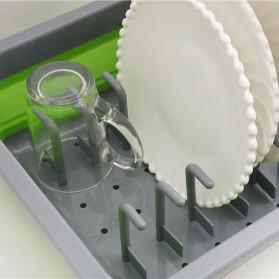 AsyPets Rak Pengering Dapur Piring Gelas Foldable Collapsible Drainer - JY749 - Green - 5