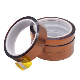 NIKTO Tape Lakban Heat Resistant Polyimide High Temperature Adhesive Insulation Size 33m x 5mm - Brown - 4