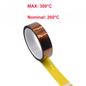 NIKTO Tape Lakban Heat Resistant Polyimide High Temperature Adhesive Insulation Size 33m x 5mm - Brown - 6