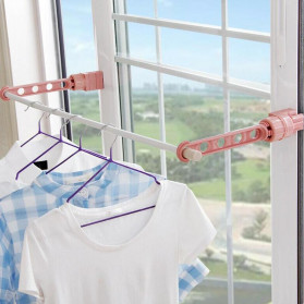 Hanger Gantungan Baju Indoor Window Frame Drying Rack Five hole - LR800 - Blue - 3