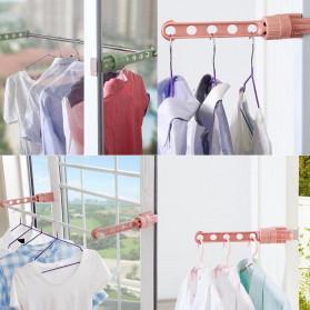 Hanger Gantungan Baju Indoor Window Frame Drying Rack Five hole - LR800 - Blue - 4