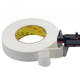 YC Perekat Double Tape Acrylic Adhesive Foam Sponge 20mm x 5m - J4703 - White - 3