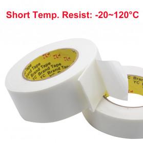 YC Perekat Double Tape Acrylic Adhesive Foam Sponge 50mm x 5m - J4703 - White - 5