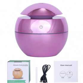 DELIXING Ultrasonic Air Humidifier Diffusers Aromatherapy USB 130ml - RJS62 - Pink